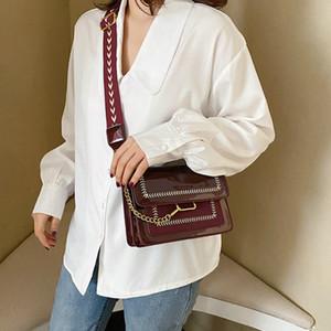 Ladies Wide Strap Messenger Bag Fashion Rivet Schulter Umhängetaschen elegante Frauen Handtasche Telefon Purse CC