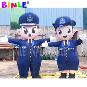 Hot sale giant inflatable policeman cartoon,inflatable police man for display