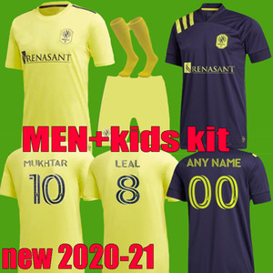 2020 2021 MLS Nashville SC maillots de football hommes loin kit enfants à la maison 20 21 MUKHTAR badji Lovitz MCCARTY Godoy Ensemble complet FOOTBALL