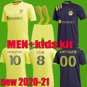 2020 2021 MLS Nashville SC мужские футбольные майки home away kids kit 20 21 Мухтар Баджи Ловиц Маккарти Годой полный комплект футбольных рубашек