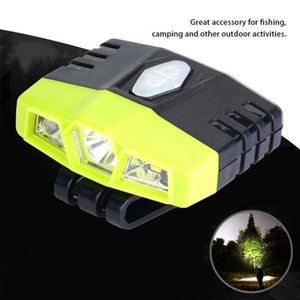 Rechargeable USB Charging headlight Outdoor Cap Hat LED Light Headlamp Clip Headlight for Night Fishing Camping head lamp
