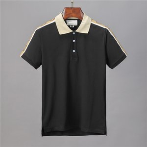The New Luxury Mens Designers Polo T shirts Summer Short Sleeved Turn Down Collar Short Sleeved Tops Polo Shirts