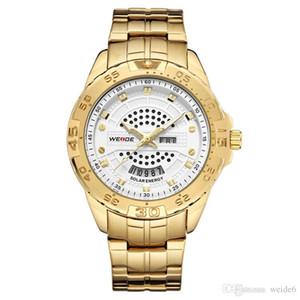 WEIDE-SE0706G nouvelle montre solaire pour hommes chaud élément neuf montre classique en or en acier inoxydable montre étanche 30M