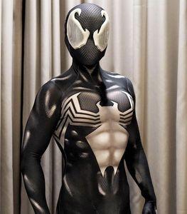 Venom Symbiote Spiderman Costume 3D Printed Adult Lycra Spandex Spider-man Costume For Halloween Cosplay Zentai Suit