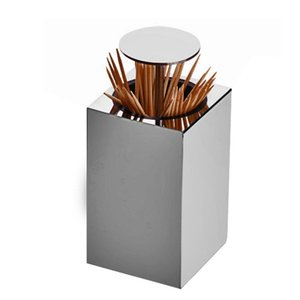 Toothpick Holder Stainless Steel Rustproof Durable Portable Toothpick Can Travel Hotel Toothpick Box Table Decorations