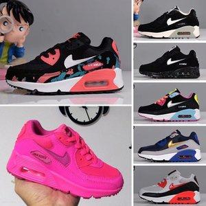 Nike Air Max 90 Bambini grandi formatori per i ragazzini da tennis massime ragazze del bambino pattini pattino Bambini Sport Kid Trainer gioventù Sneaker Sport adolescente