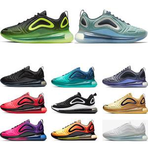 nike air max 720 Северное сияние СЕВЕРНОЕ ОСВЕЩЕНИЕ ДЕНЬ ТРАЙПЕР ЧЕРНЫЙ Металлические платиновые кроссовки для мужчин, женщин, кроссовок, спортивные кроссовки, размер 36-45