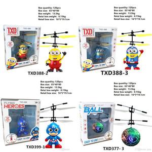 RC Drone Helicóptero Voador Bola Helicóptero Aeronave Levou Luz Piscando Até Brinquedos Indução Elétrica Toy sensor Crianças Crianças de Natal