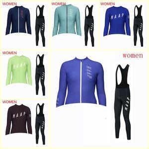 squadra MAAP ciclismo manica lunga in jersey (pettorale) Donne Pro Cycling Abbigliamento Maglie Set MTB Abbigliamento femminile bicicletta Casual Wear B620-11