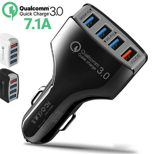 QC3. 0 Quick Charge Adaptive 4 Port USB Fast Car Charger быстрая зарядка автомобильное зарядное устройство для Samsung S6 S7 edge S8 Plus Note8