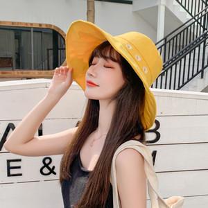 Free DHL Sunflower Print Bucket Hat Fisherman Hats Summer Outdoor Travel Beach Sun Hat Daisies Sweet Sunshade Cap for Women