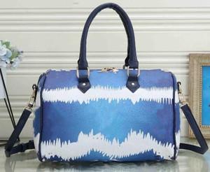 Ücretsiz nakliye 33 boy Moda Renkli Boston Bag Tasarımcı Batik Kol Çantası Satılık Omuz Kayışı Lüks Tasarımcı Boston poşetleri