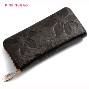 Pink sugao women wallet designer card holder new fashion purse luxury pocket long handbag wholesale lady small phone bag wallets