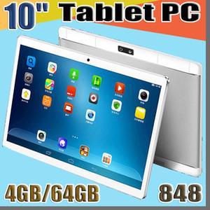 "848 10"" polegadas MTK6582 Octa núcleo 1.5Ghz Android 6.0 3G Phone Call tablet pc GPS Bluetooth Wifi Dual Camera 4GB de RAM 64GB ROM G-10PB"