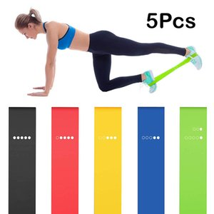 Home exercise 5PCS Yoga Resistance Bands Stretching Rubber Loop Exercise Fitness Equipment Strength Training Body Pilates Strength Training