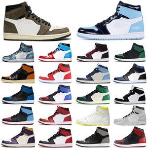 nike air jordan retro 1 1s travis scott hommes femmes chaussures de basket-ball unc obsidian game royal tubro Tie Dye athlétique hommes femmes formateurs baskets de sport