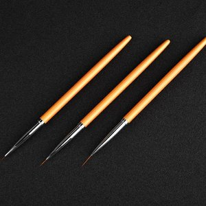 3 pcs / set Linhas Nail Art pena pintura Escova Kit Gel UV Polish Dicas Design 3D Manicure Desenho Ferramenta LDO99