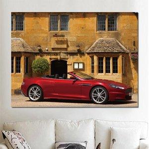 aston martin dbs rote leinwand gedruckt malerei wandbilder Für wohnzimmer