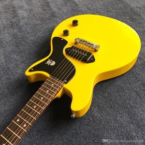 Nova chegada estúdio venda quente guitarra elétrica captador de ponte cor amarela uma peça fotos reais Guitarra alta qualidade