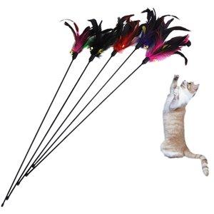 Fun Котик Рука создания игрушки Cat перо Белл Wand Teaser Rod бисера Interactive Play Pet Болл игрушки высокого качества