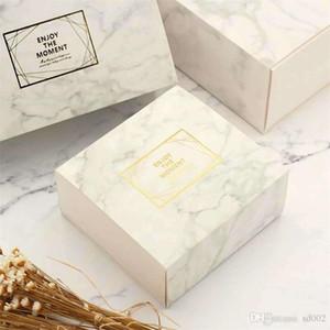 Gift Box portátil pequeno quadrado fresco boxs embalagem simples de três Strand corda Marbling Gilding Prata quente Hot Vendas 3rxC1