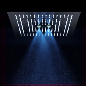 LED 샤워 헤드 블랙 강우있는 샤워기을 욕실 16 인치 샤워 헤드 천장 마사지 욕실 액세서리를 장착