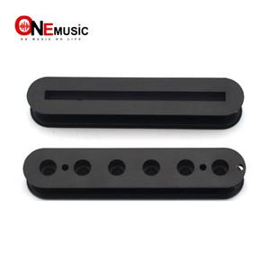 20 ADET Mini Gitar Pickup Bobin 65x12.3x9.8mm 6 Delik Vida Stil / Bir çizgi Tarzı Gitar Bobin Siyah