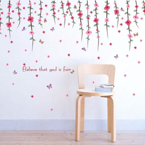 Flower Home Bedroom Decors Removable Wall Stickers Decal Decorations Floral Hot Wall Stickers
