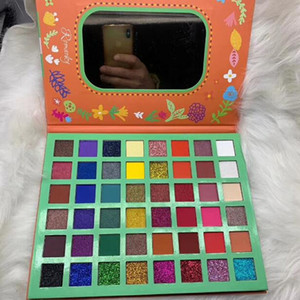 New arrival long-lasting Romanky eyeshadow makeup 48 colors matte & shimmer eye pressed powder palette easy to wear DHL Free
