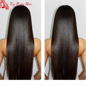 Silk Top Light Yaki Wig Virgin Human Hair 4x4 Silk Base Full Lace Human Hair Wigs Yaki Straight Lacefront Wig For Women