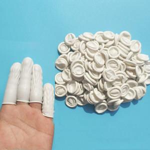 Guanti 100pcs gomma naturale guanti dito Culle lattice della punta delle dita di protezione monouso