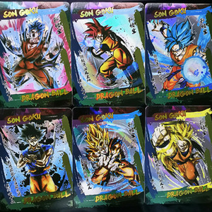42pcs set Dragon Ball Super Ink Style Super Saiyan Goku Vegeta Game Action Figures Commemorative Edition Collection Cards Limit