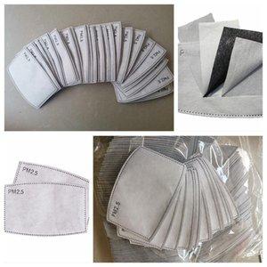 Máscaras de PM2. 5 filtro placa de filtro substituível com máscara de 5 camadas com filtros de Máscara De Carvão activado com Muffle respiratório inserir CCA12039 2000pc