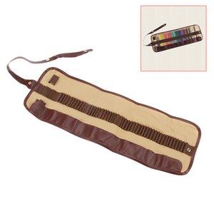 Горячая продажа 48 отверстия холст занавес эскиз держатель мешок рулон ручка чехол сумка для хранения - хаки