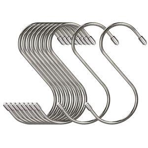 20Pcs Set Stainless Steel S Shaped Hooks Kitchen S Type Hooks Hangers For Pans Pots Utensils Clothes Bags Plants