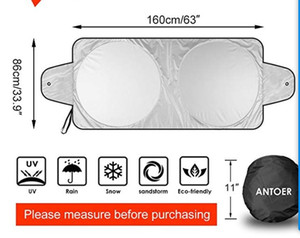 Windshield Sun Shade With 2 Ears For Maximum UV And Sun Protection -Foldable Sunshade For Car Windshield Will Keep Your Car Cooler