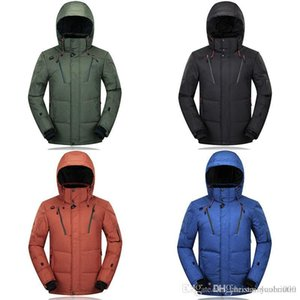 2019 Winter Down Hooded Top Goose Face Down Jacket North Women Mens Zippers Warm Down Jacket Outdoor Ninja Coats High Quality