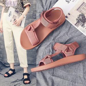 Fashion2019 Сандалии Uniqlo Xia Baida Студент Беременные нескользящие с плоским дном Магия положить обувь женщина
