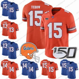 Florida Gators 150M # 13 Feleipe Franks 4 Kadarius Toney 2 Lamical Perine 15 Tim Tebow 5 Emory Jones Maillots NCAA