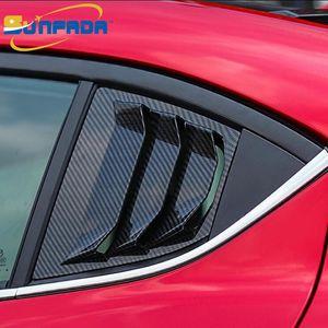 الخلفي المثلث النافذة جناح الجناح تريم لوحة لزينة السيارات لمازدا 3 سيدان AXELA / هاتشباك 2014-2018 الرياضة التصميم