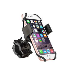 soporte de bicicletas soporte para teléfono móvil para bicicleta de montaje universal del soporte sostenedor del teléfono celular de la correa para el iPhone GPS Samsung con el paquete al por menor