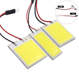 1 배 COB-48SMD 램프 패널 LED COB 전구 꽃줄 31mm의 36mm에서 39mm의 41mm 12V 화이트 COB LED 라이트 자동차 번호판 인테리어 독서 램프