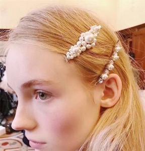 Mode-Luxusdesigner Haarnadeln Gelbgold überzogene Perlen-Haar-Clips Spangen für Mädchen-Frauen für Partei-Hochzeit Nizza Geschenk