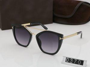 2019 Yeni Moda Güneş Gözlüğü Erkek Kadın Gözlük tom Tasarımcı Kare Güneş Gözlükleri UV400 ford Lensler Eğilim Güneş Gözlüğü TF0370 Kutusu + Indirim Ile