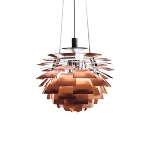 Ph Pendant lamp Denmark Home Hanging Lamps White Copper Pinecone Pendant Lights Suspension Luminaire Fixture Decor For Dinning Table Bar