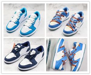 Nouveau futura 1 x SB Dunk Basse Pro OG QS Kith Chaussures de planche à roulettes Eric Kosto Bleu Blanc UNC Créateur de mode Sport Baskets Chaussures de Basketball
