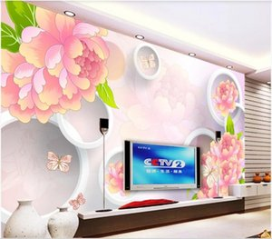 3d room wallpaper custom photo mural Hand painted peony 3D stereo TV background wall home decor 3d wall murals wallpaper for walls 3 d