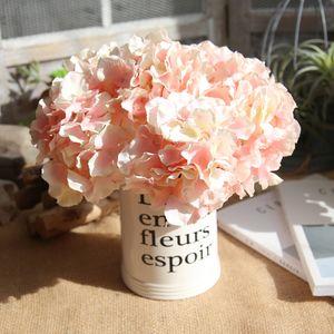 Real Touch Hydrangea Big Flower 32 cm Largo Seda Hydrangea Ramo Blanco Para La Boda Decoración Del Hogar Novia Bouquet / Flor de la boda