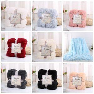 Plush Blanket Lance super macio longas Shaggy Cobertores fuzzy PV Fur Faux pele morno Lance Cozy elegante Sofás cama 80 * 120 centímetros DHA565
