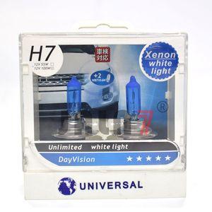 2PCS H7 100W Car Driving Lights High Performance Halogen Headlight Bulb Fog Light HID Alternative Xenon Charged Technology